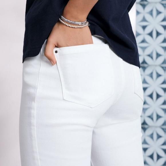 Pure Collection Denim - Pure Collection Slim Leg Jean White 5 Pocket